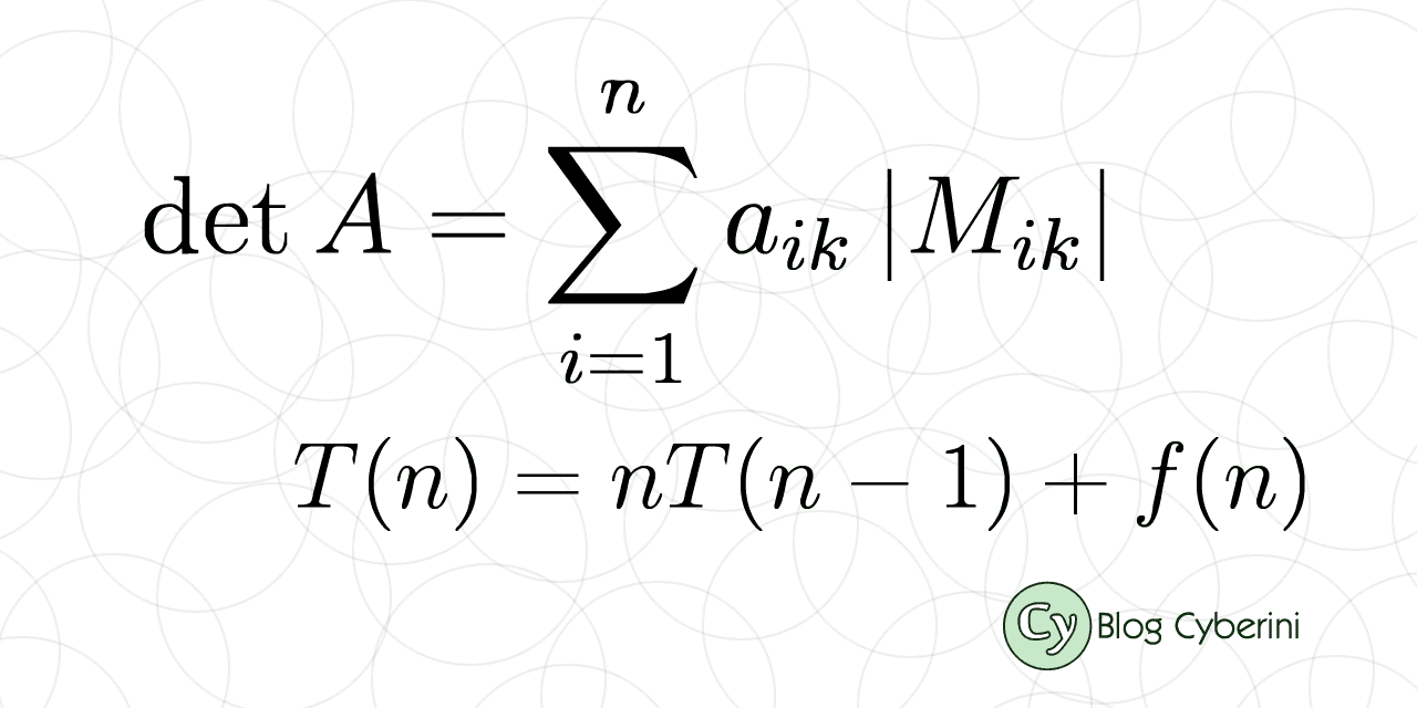 Complexidade Algorítmica do Teorema de Laplace