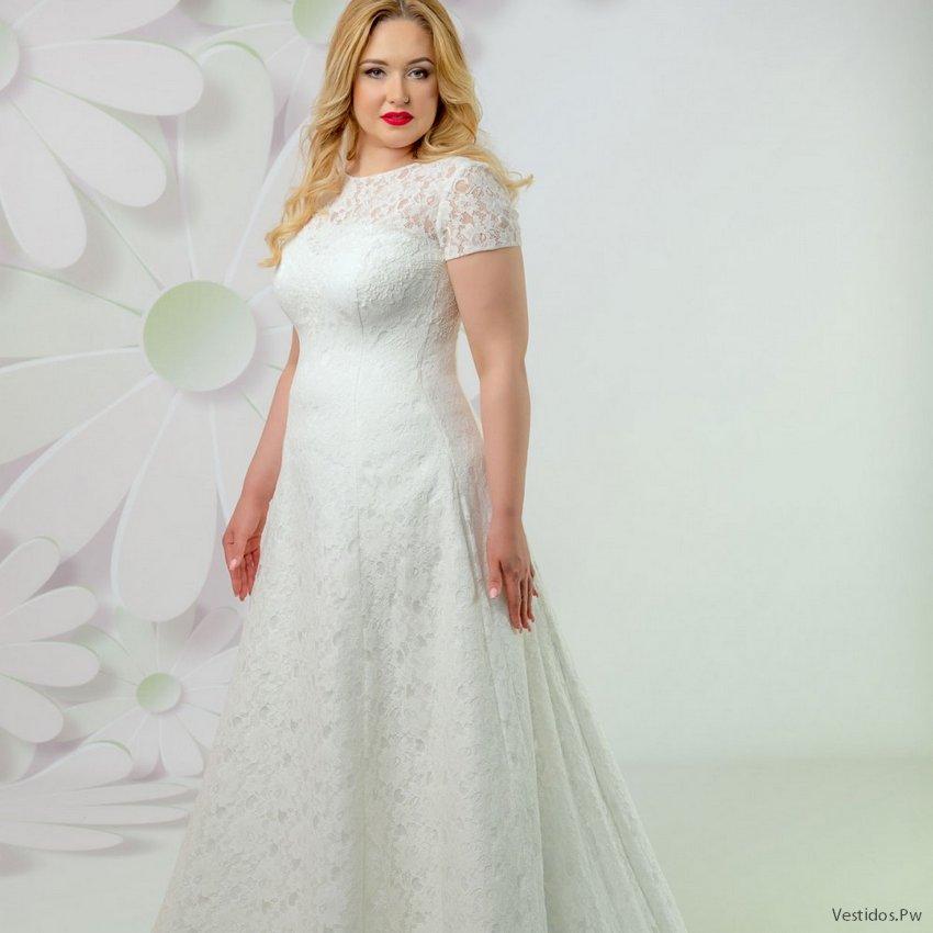 más de 40 vestidos de novia para gorditas: ¡sencillos de boda civil