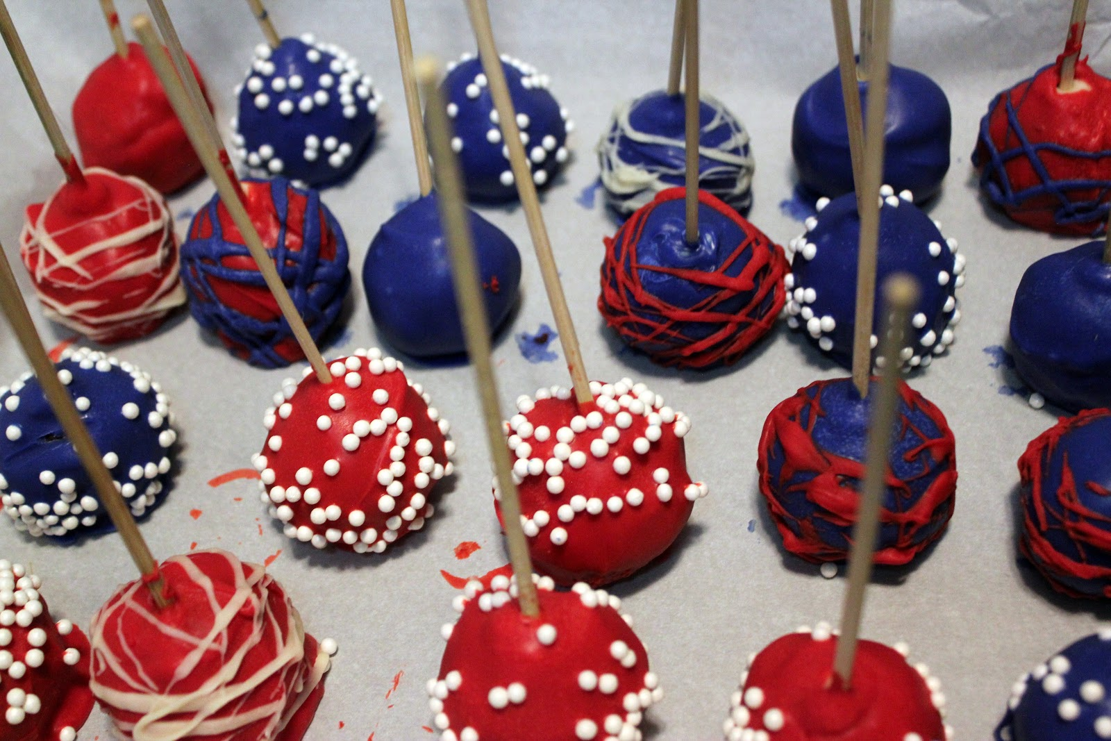 Red White And Blue Cake Pops Recipe