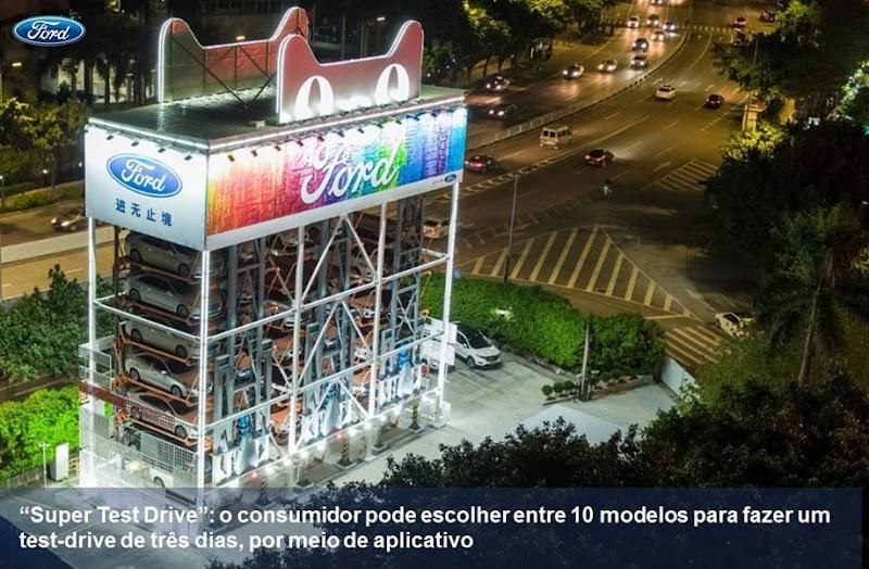"""Ford inaugura """"vending machine"""" de carros com o Alibaba na China"""