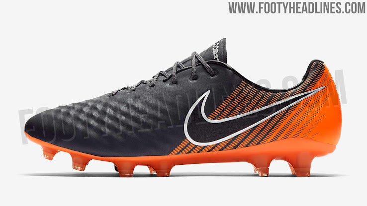 Pizza Tarjeta postal Cuña  No More Opus: 'Dark Grey / Total Orange' Nike Magista Obra II Elite 2018  Boots Leaked - Footy Headlines