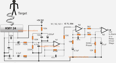 ghz microwave radar security alarm circuit