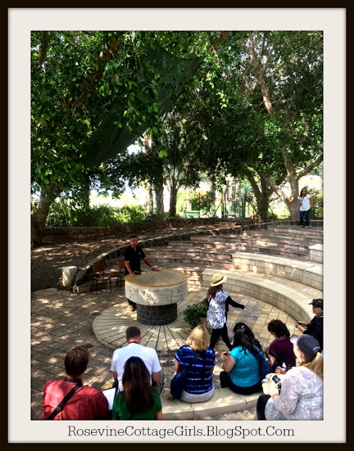 Amir Tsarfati teaching our group in Tabgha Israel