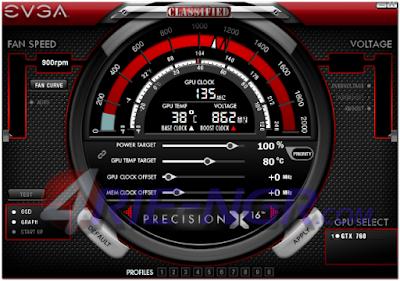 EVGA Precision X 6.0.4 Terbaru Gratis