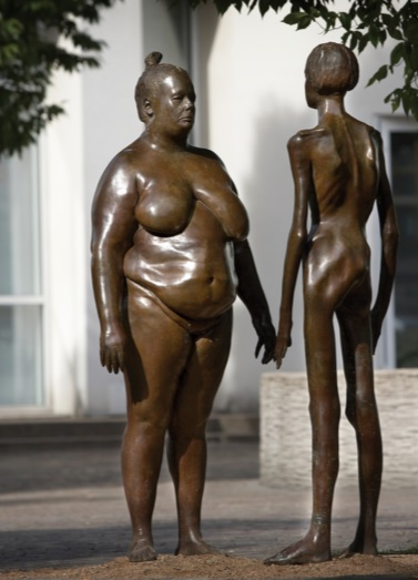 Accept Your Body African Proverbs lesson is similar to the sculpture Bronskvinnorna or The Women of Bronze in Växjö, Sweden