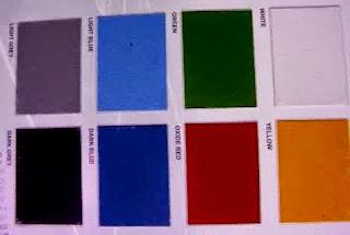 contoh warna Tennokote cat khusus untuk pengecatan lapangan dan cat lantai