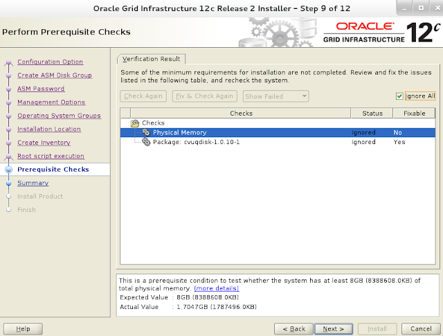 Oracle 12c grid infrastructure installation wizard screen 10