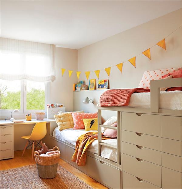 habitación infantil con toques de amarillo chicanddeco