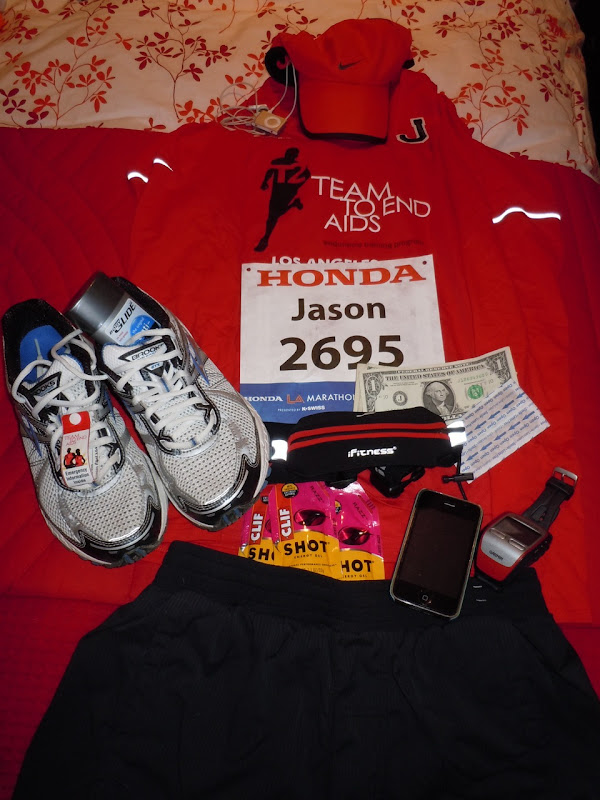 Marathon race day kit