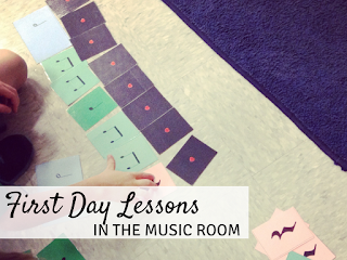 First day lessons in the music room: Blog post with lots of ideas for your first day music lessons!