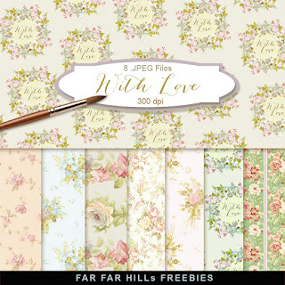 New Freebies Kit of Scrap Backgrounds - With Love
