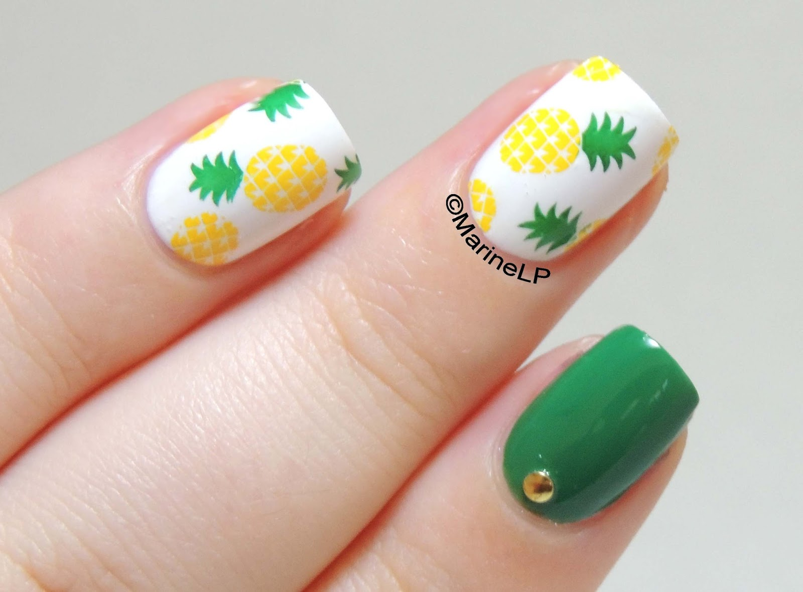 Pineapple nails! - Marine Loves Polish and More...