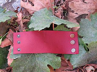 LoveLea's cuff in red leather.
