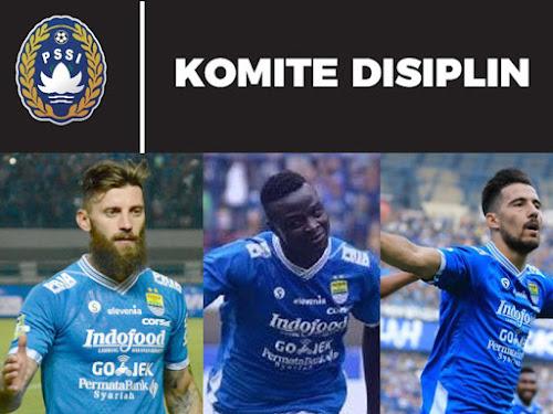 Hukuman 3 pemain asing Persib