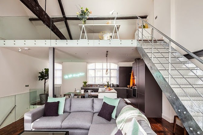 Factory in East London Turned into a Stylish Loft ...