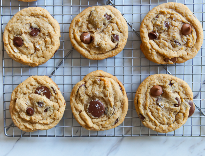 Triple Chocolate Peanut Butter Cookies with Sea Salt