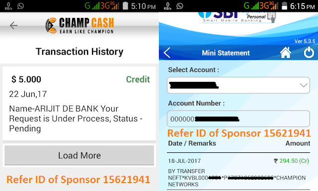 Champcash Payment Proof