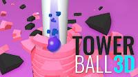 Zıpla Kule Yık - Tower Ball 3D