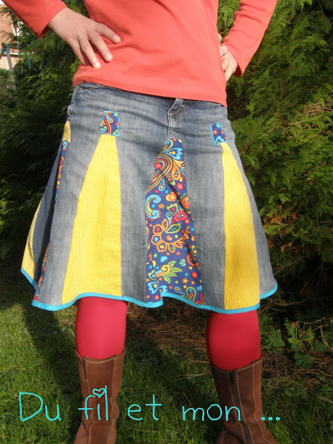 transformer un jean en jupe