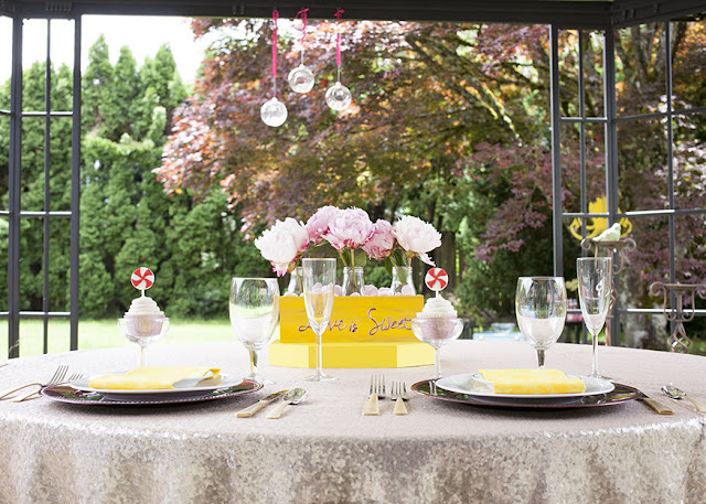 Love is sweet wedding in the park. Get inspired at FizzyParty.com