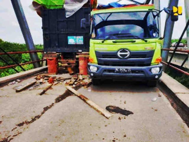 Kemen PUPR akan Perbaiki Jembatan Way Mesuji Ambrol di Lampung
