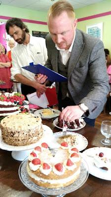 cake tasting at The White Gables Bake Off