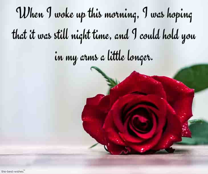 good morning message to my love with red rose