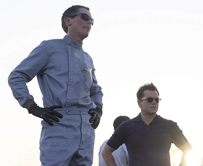 Matt Damon as Carroll Shelby and Christian Bale as Ken Miles Wearing Ray-Ban Sunglasses in Ford v Ferrari (2019)