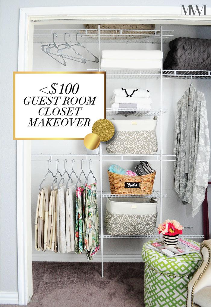 DIY Guest Room Closet Makeover