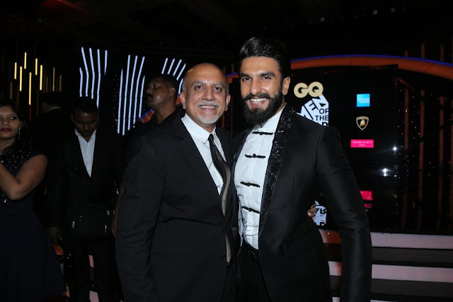 Alex Kuruvilla with Ranveer Singh at GQ Men of the Year Awards 2016 to celebrate GQ's 8th Anniversary