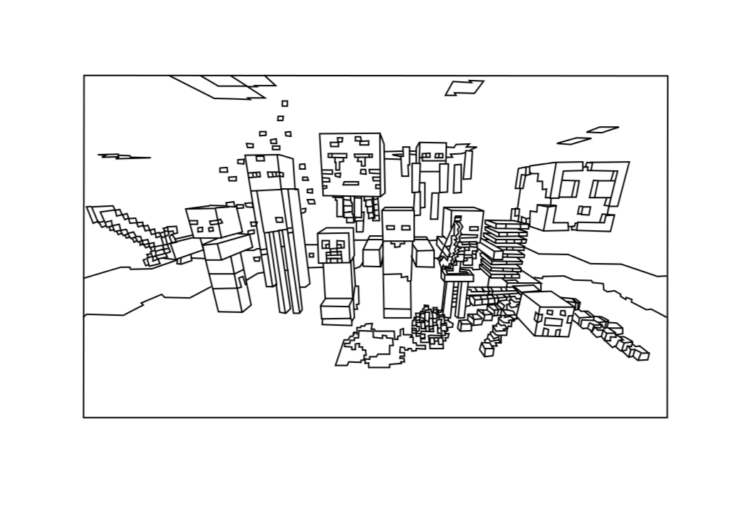 minecraft coloring pages - photo #16