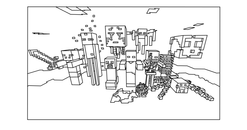 coloring pages for minecraft top coloring pages