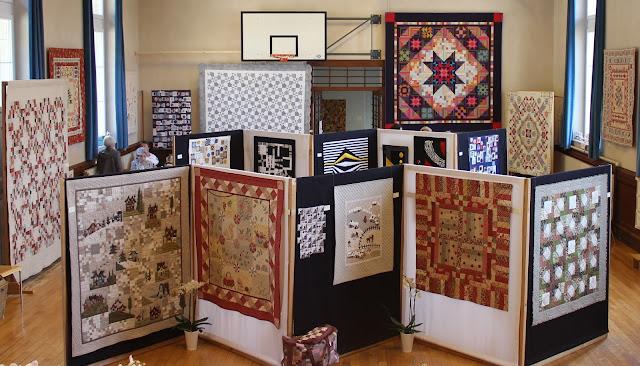 Exposition de quilts - Patchmania 2017 à L'Abbaye - Vue d'ensemble