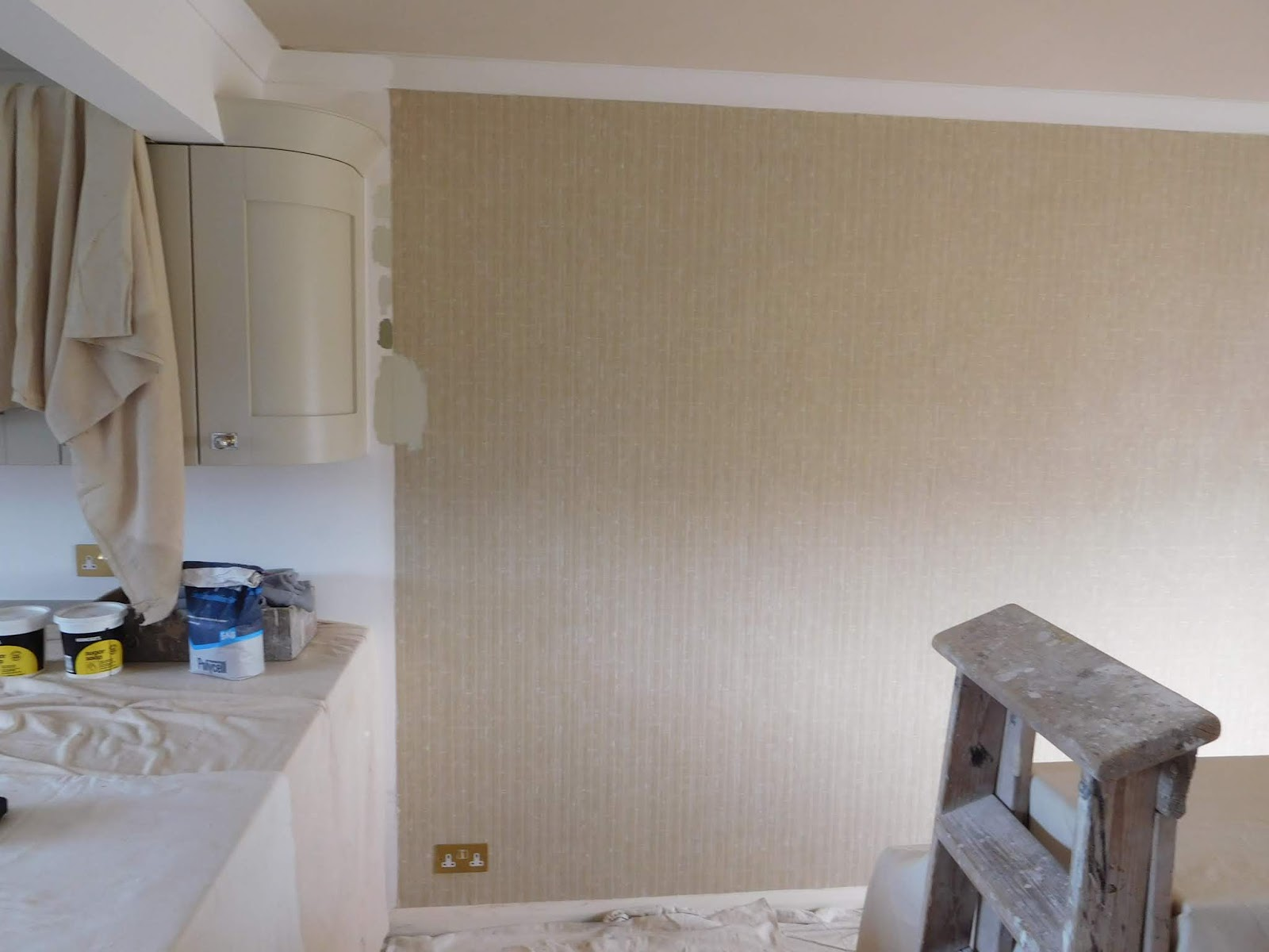 One Half Of The Room Is The Kitchen Area, Which Is Newish   New Kitchen  Units Fitted U0026 Walls In New Plaster. The Other Half Of The Room Is The  Original ...