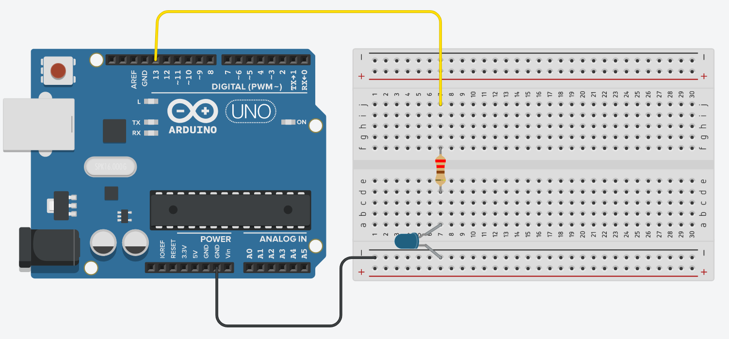 Arduino Stem Basic Blink Is A Simple Flashing Led Circuit Operating On The Breadboard