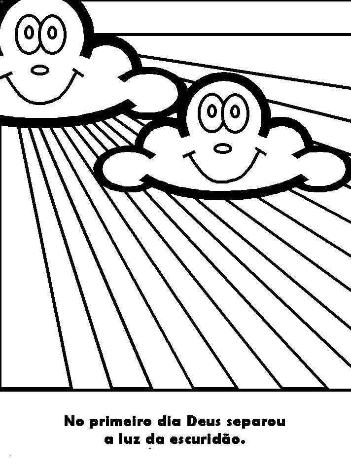 Day 1 of creation coloring pages ~ Semeando Vidas: Desenhos para pintar e atividade sobre a ...