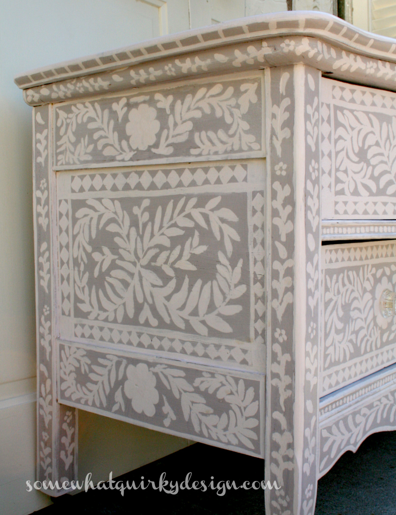 http://www.somewhatquirkydesign.com/2014/10/painted-inlay-dresser.html
