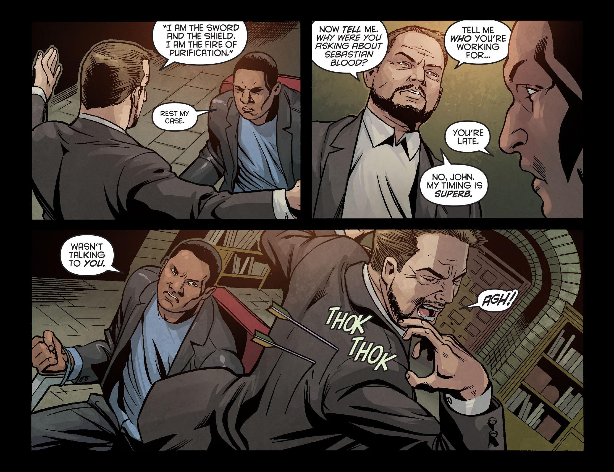 Read online Arrow: Season 2.5 [I] comic -  Issue #6 - 16