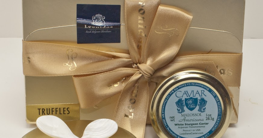Lady elena caviar chocolate and gift set from