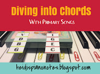 Teaching Piano Chords I and V Tonic and Dominant Chord Songs Primary Songs