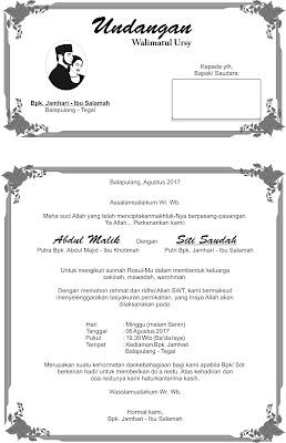 undangan walimatul ursy saudah