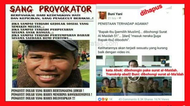 Skakmat...!! Surat Terbuka dari Jurnalis Senior untuk Buni Yani, Pemlintir Transkrip Pidato Ahok
