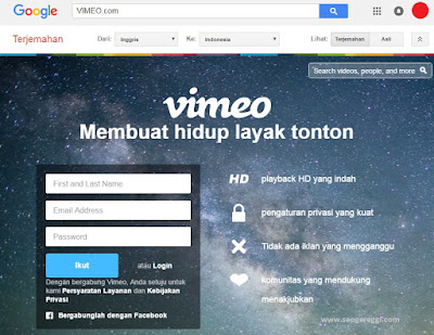 Vimeo.com Google Translate