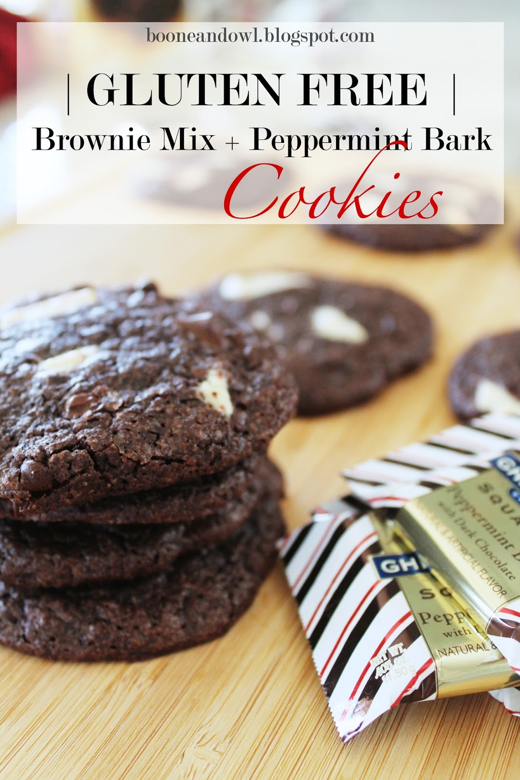 Gluten free brownie mix  and peppermint bark cookies, gluten free chocolate cookies, brownie mix cookies, gluten free brownies, peppermint bark cookies