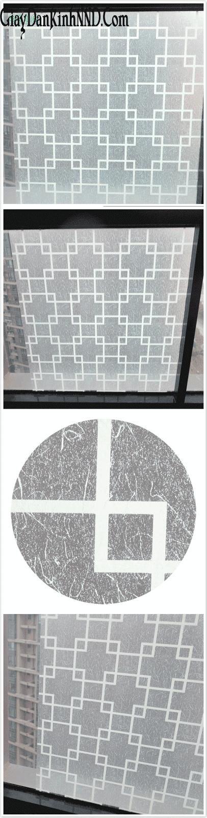 Giấy dán kính hoa văn Mã A26