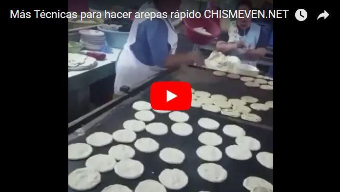 Sólo en Venezuela se hacen las Arepas así de rápido