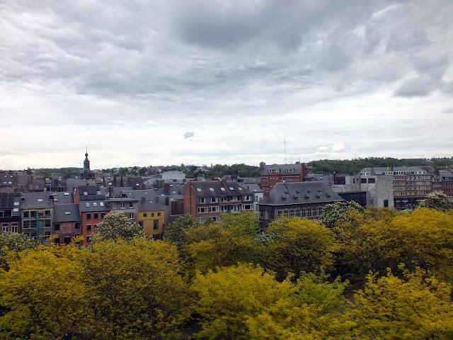 vistas desde el castillo de Namur