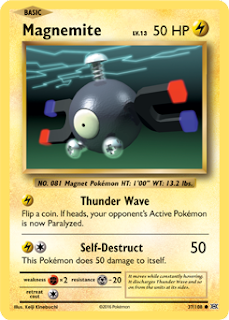 Magnemite Evolutions Pokemon Card