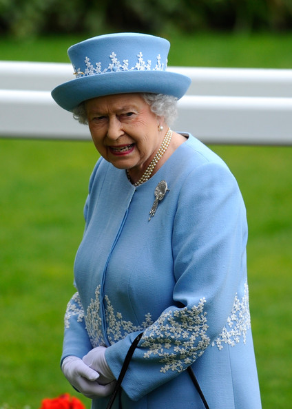 Queen Elizabeth II attended the Royal Procession on day five of Royal Ascot at Ascot Racecourse in Ascot, England