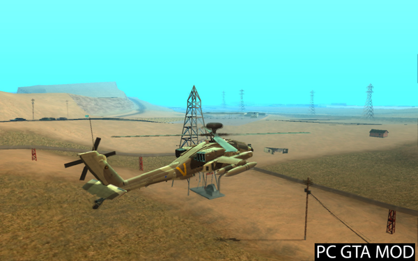 Free Download AH-64D Longbow Apache Mod for GTA San Andreas.